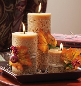 Even the turkey will like your decor Even the turkey will like your decor Even the turkey will like your decor candles thanksgiving decorations 962x835 277x293