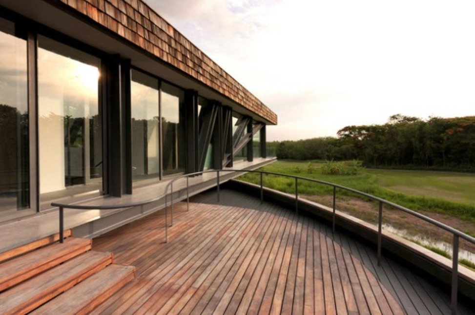 """""""wooden house design european and asian architectural"""" Modern Wooden House Design Combine Asian and European Architectural Modern Wooden House Design Combine Asian and European Architectural terrace design ideas with wooden floor"""