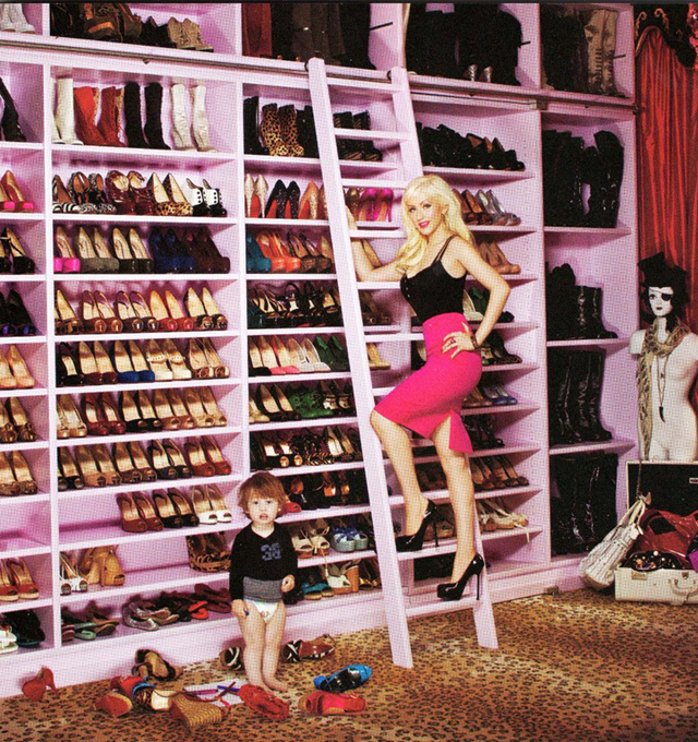 """Christina Aguilera Shoe Closet"" Most Amazing and Luxurious Celebrity Closets Most Amazing and Luxurious Celebrity Closets 1"