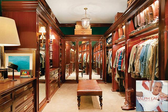 """Ralph Lauren's closet"" Most Amazing and Luxurious Celebrity Closets Most Amazing and Luxurious Celebrity Closets 5"