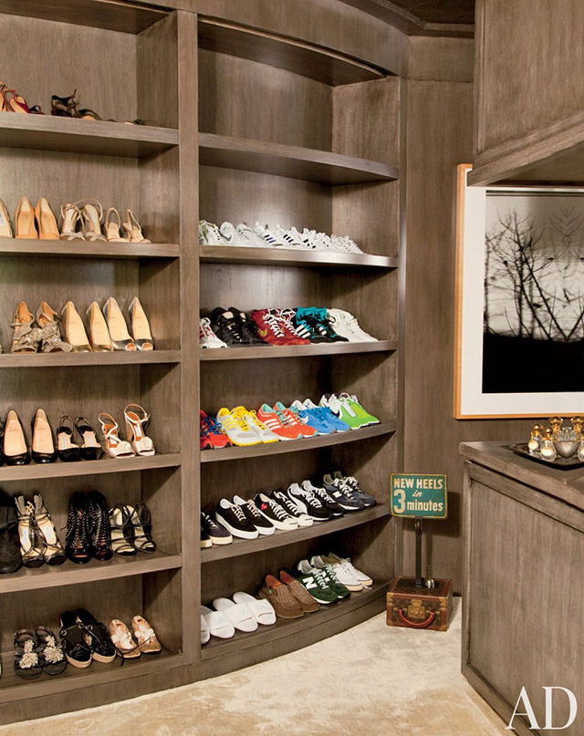"""Ellen DeGeneres shoe closet"""