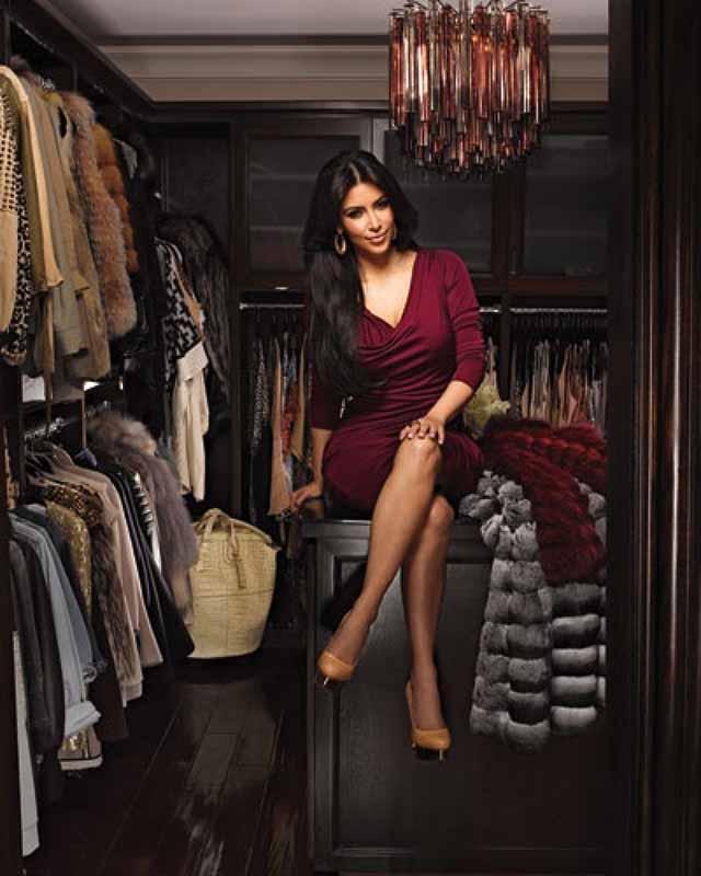 """Kim Kardashian's closet"" Most Amazing and Luxurious Celebrity Closets Most Amazing and Luxurious Celebrity Closets 7"