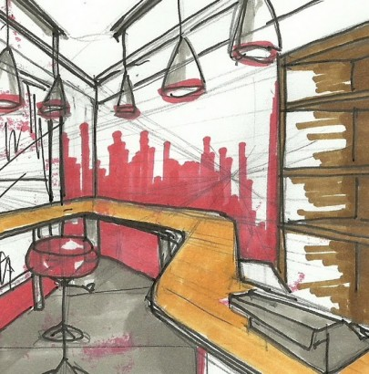 """15 Must Know Interior Designers in Toronto"" 15 Must Know Interior Designers in Toronto 15 Must Know Interior Designers in Toronto interior design sketches interior design my sketches for current project milk bar 405x410"