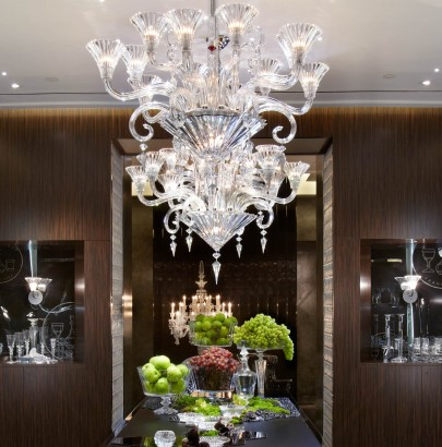 """""""Interior design trends: Top 10 modern chandeliers"""" Interior design trends: Top 10 modern chandeliers Interior design trends: Top 10 modern chandeliers Baccarat NYC Flagship Dining Room 405x410"""