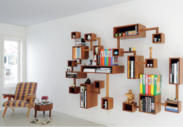 So, do you want a modern living room with a perfect bookshelf?