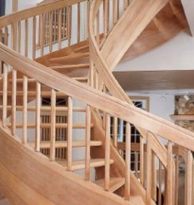 Trendy Spiral Wood Staircase