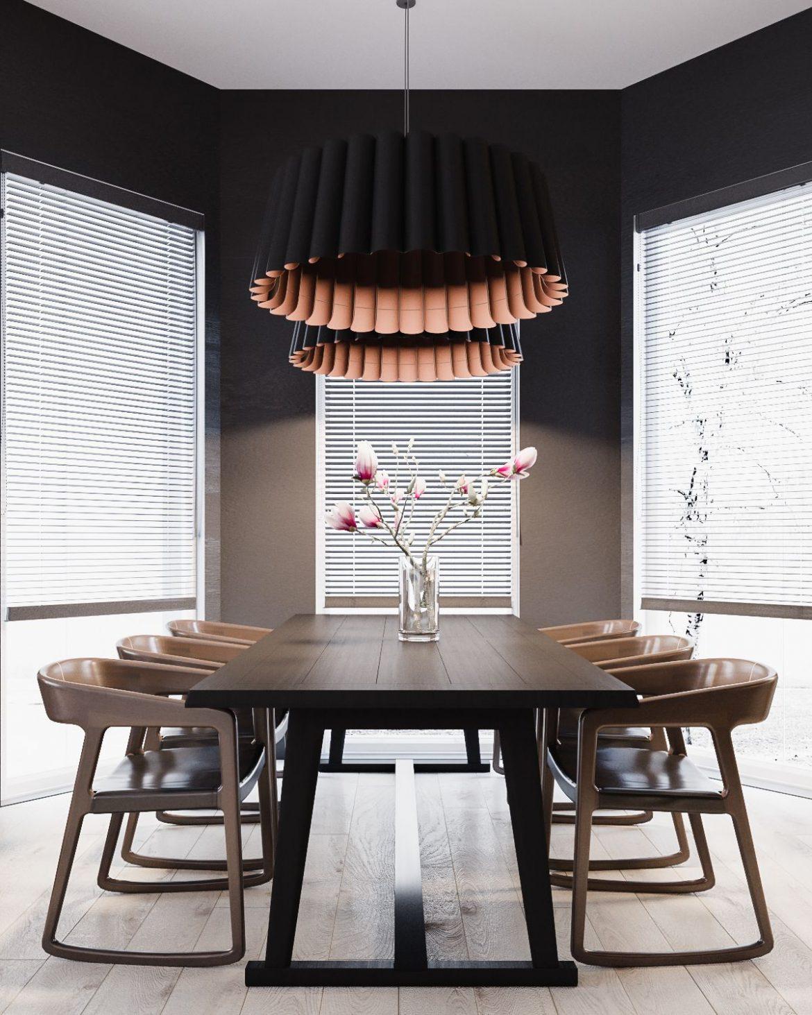 home in ukraine with minimalist b&w designs