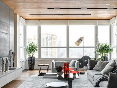 An Apartment with Panoramic Views of Moscow by Alexandra Fedorova