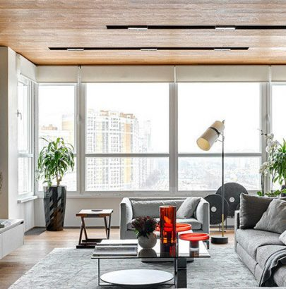 A Modern Apartment with Panoramic Views of Moscow by Alexandra Fedorova