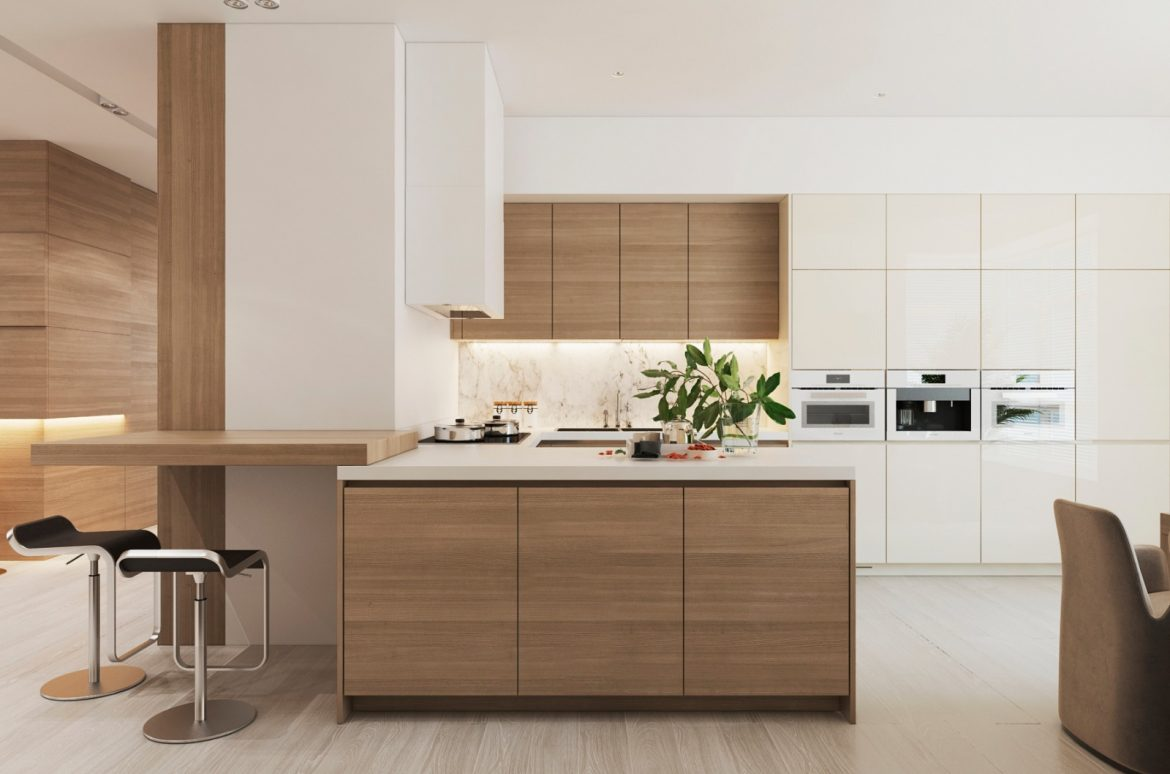Modern Apartment in Moscow with Wood as the Central Element
