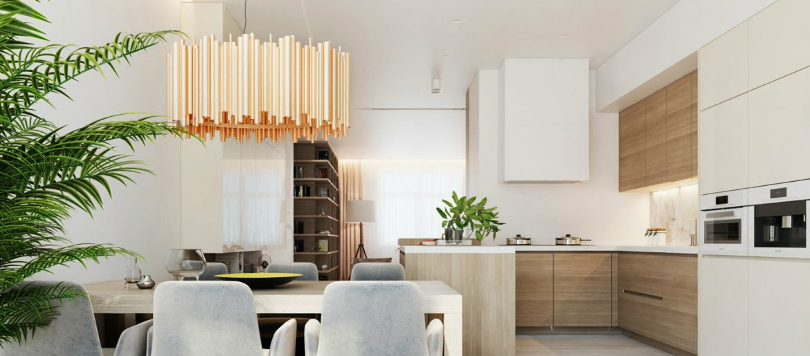 Modern Apartment in Moscow with Wood as a Central Element