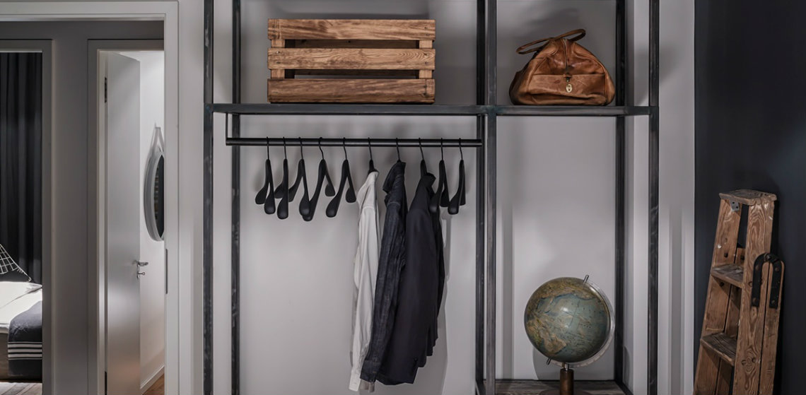 Think Different: Industrial Style Closet Designs