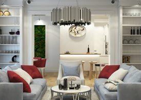 Outstanding Contemporary Living Room Design in Kiev