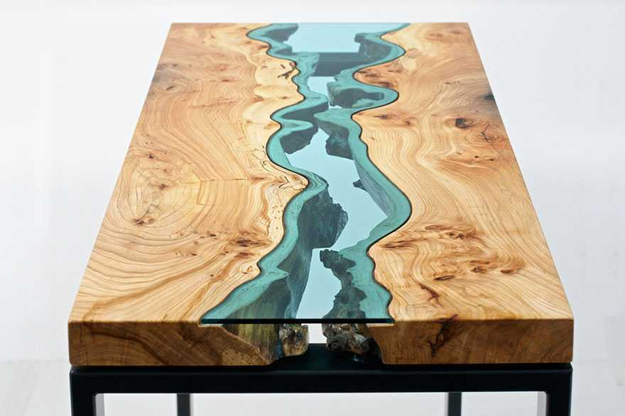 STUNNING WOODEN COFFEE TABLE WITH GLASS RIVERS AND LAKES coffee table STUNNING WOODEN COFFEE TABLE WITH GLASS RIVERS AND LAKES STUNNING WOODEN COFFEE TABLE WITH GLASS RIVERS AND LAKES 3