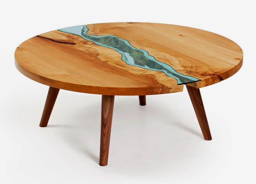 STUNNING WOODEN COFFEE TABLE WITH GLASS RIVERS AND LAKES coffee table STUNNING WOODEN COFFEE TABLE WITH GLASS RIVERS AND LAKES STUNNING WOODEN COFFEE TABLE WITH GLASS RIVERS AND LAKES 4