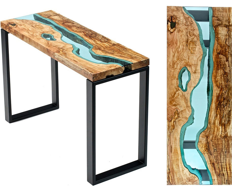 STUNNING WOODEN COFFEE TABLE WITH GLASS RIVERS AND LAKES coffee table STUNNING WOODEN COFFEE TABLE WITH GLASS RIVERS AND LAKES STUNNING WOODEN COFFEE TABLE WITH GLASS RIVERS AND LAKES 6