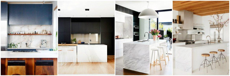 12 Stunning Modern Marble Kitchens12