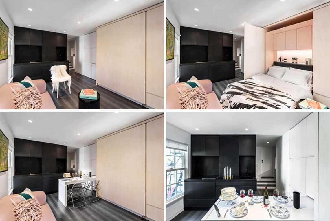This Small Modern Apartment Has A Wall Of Hidden Uses (6) modern apartment This Small Modern Apartment Has A Wall Of Hidden Uses This Small Modern Apartment Has A Wall Of Hidden Uses 6