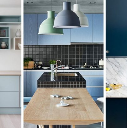 Color Inspiration: Modern Kitchen With Blue Cabinets