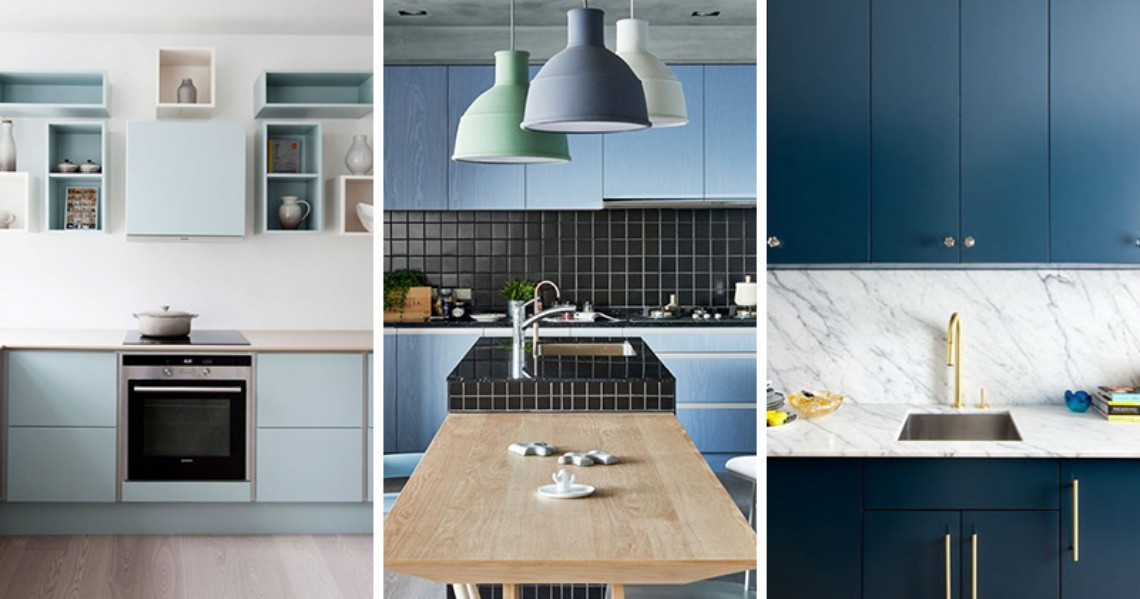 Color Inspiration: Modern Kitchen With Blue Cabinets modern kitchen Color Inspiration: Modern Kitchen With Blue Cabinets Color Inspiration Modern Kitchen With Blue Cabinets 11