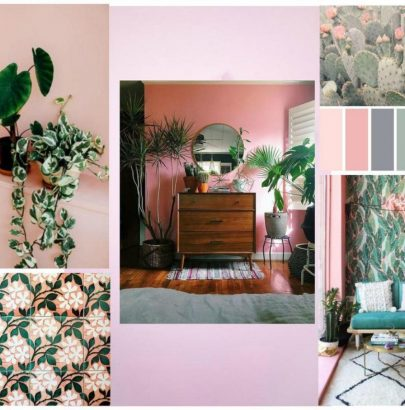 Mood Board: Pink And Green Love Affair In Home Design