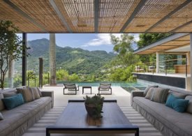 Fascinating Modern Pool House in the Mountains