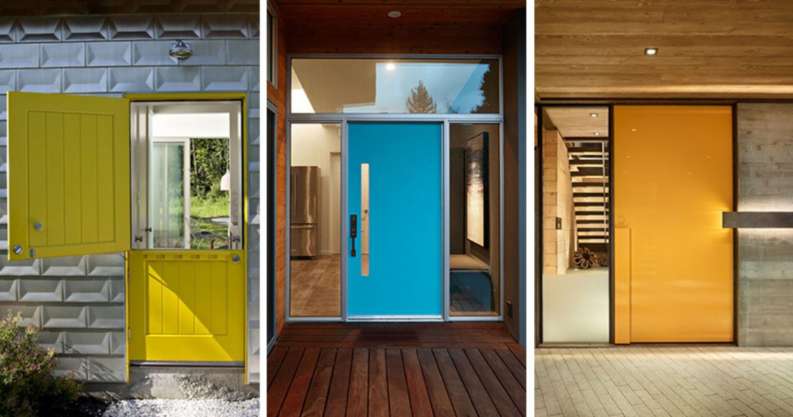 Brighten Up your Modern Home with Colorful Doors modern home Brighten Up your Modern Home with Colorful Doors Brighten Up your Modern Home with Colorful Doors