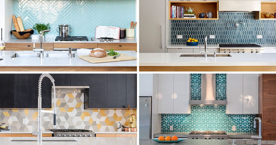 Find these Contemporary Kitchens with Geometric Tiles