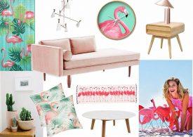 Mood Board: Feel The Pink Flamingo in Home Decor