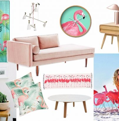 Mood Board: Feel The Pink Flamingo in Home Decor