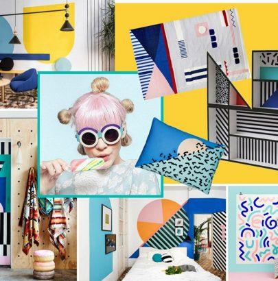 Mood Board: Feel the Colorful Vibe of Memphis Design