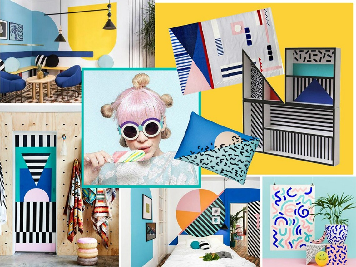 Mood Board Feel The Colorful Vibe Of Memphis Design
