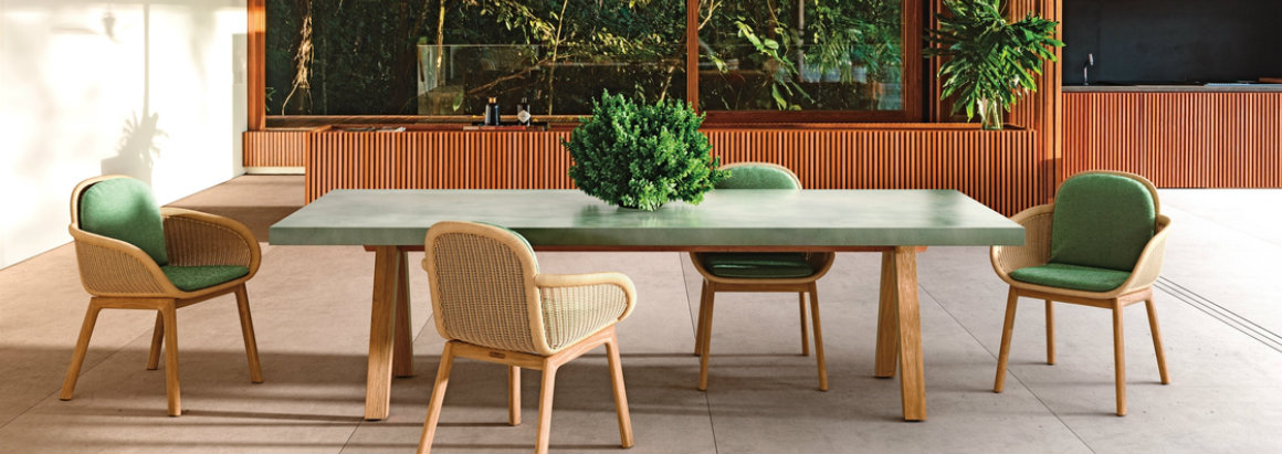 Be Inspired By The Trendiest Furniture From Salone Del Mobile 2018 salone del mobile Be Inspired By The Trendiest Furniture From Salone Del Mobile 2018 kettal 03 Vimini dining set