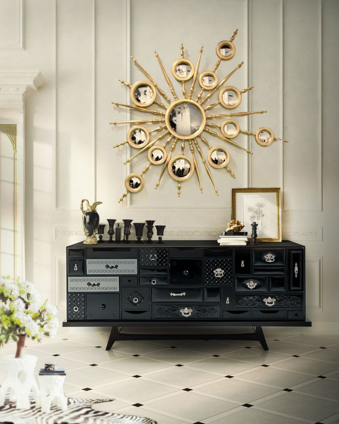 Modern Mirrors To Match Your Living Room Sideboard modern mirrors Modern Mirrors To Match Your Living Room Sideboard 8 4