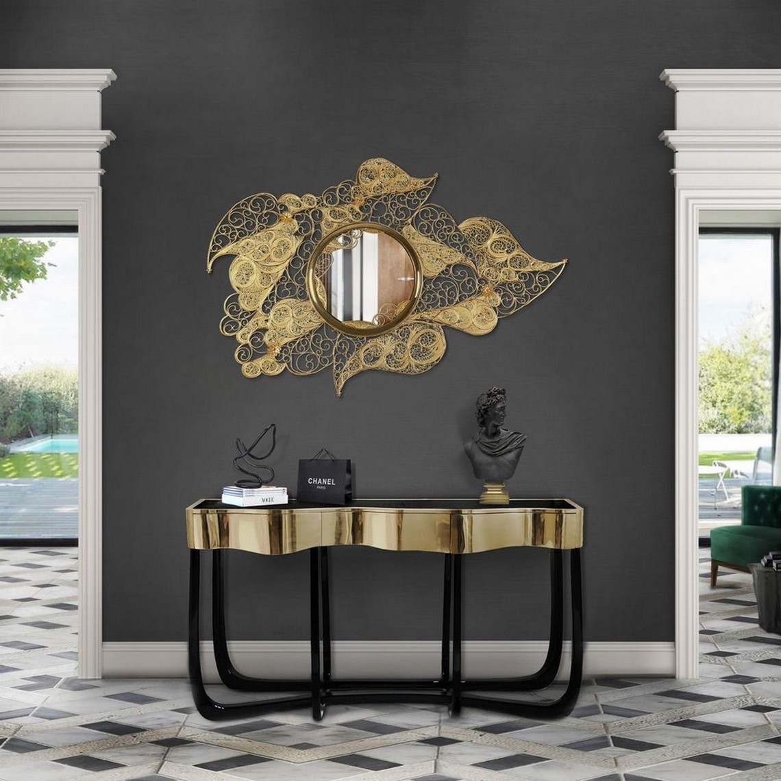 Top Luxury Console Tables For a Bold Entryway luxury console tables Top Luxury Console Tables For a Bold Entryway sinuous