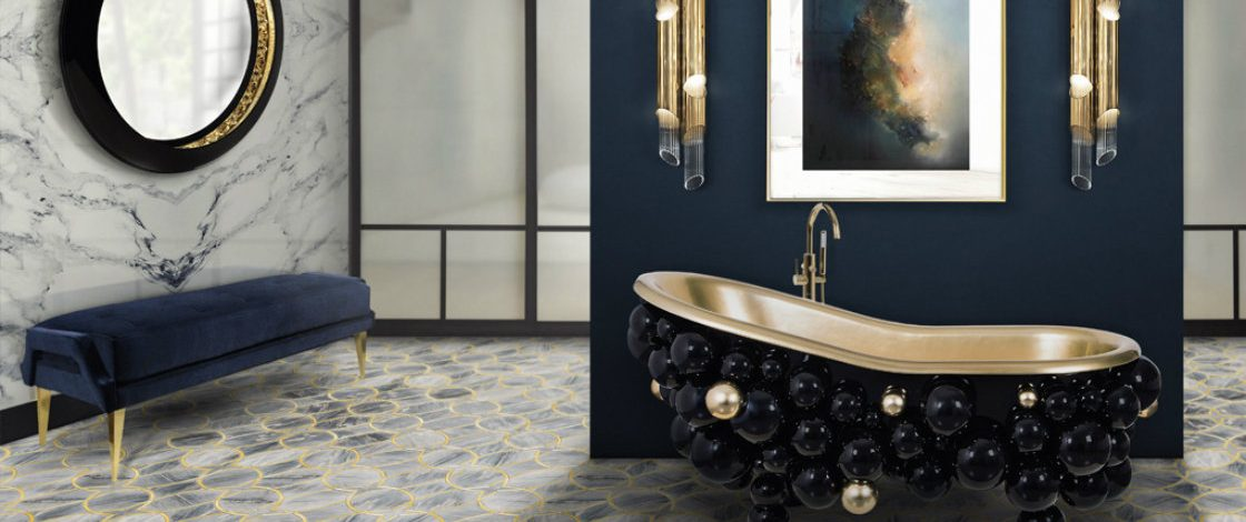 Bold statement art is invading luxurious bathrooms in 2019 f