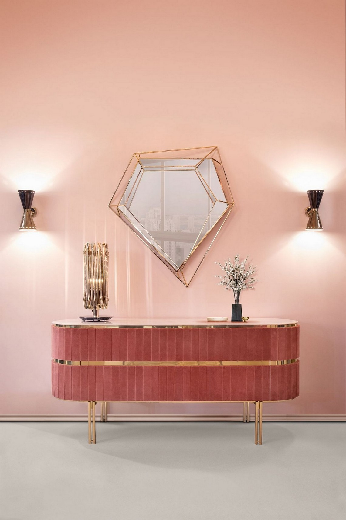 Modern Mirrors To Match Your Sideboard modern mirrors Modern Mirrors To Match Your Sideboard (Part II) diamond