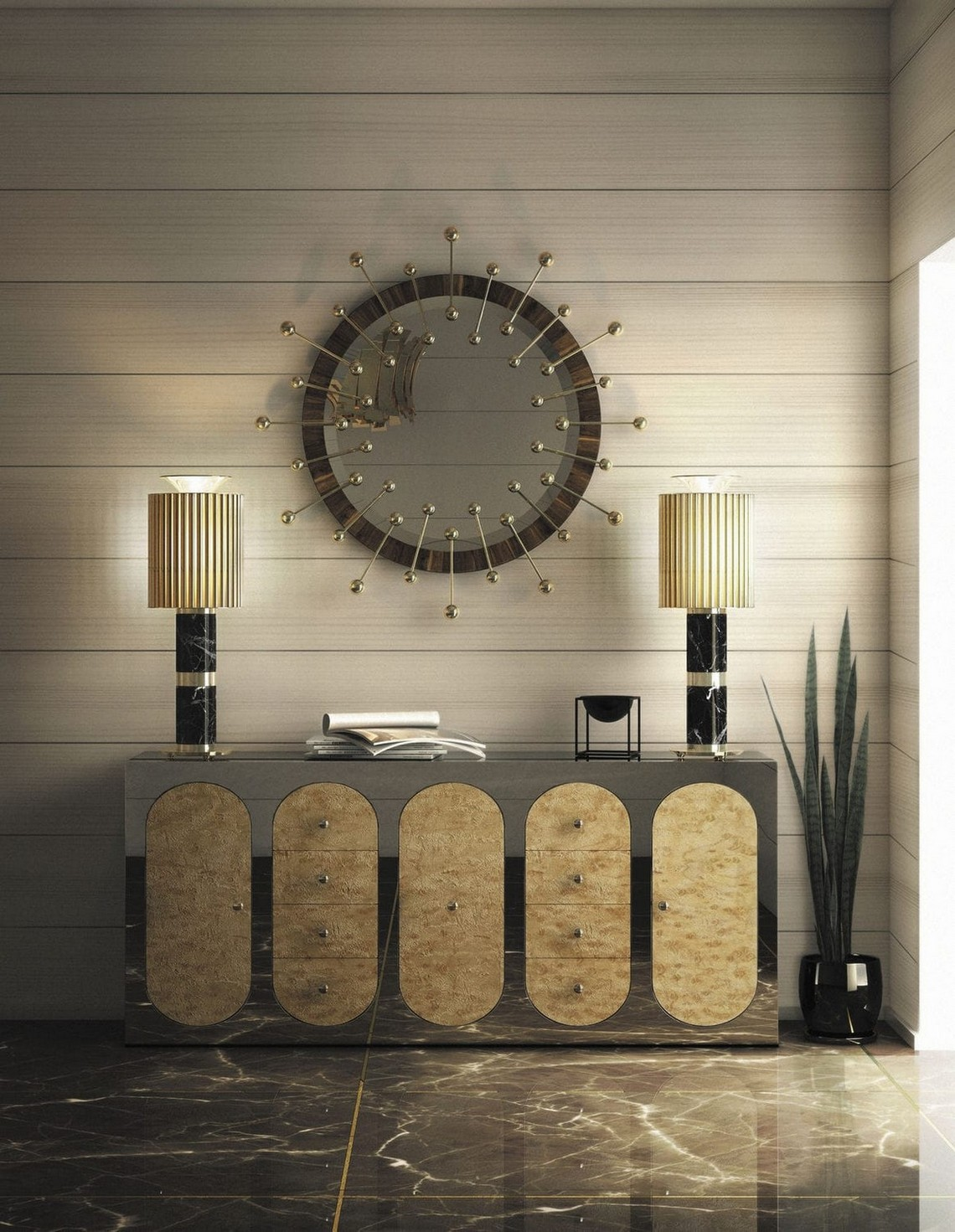 Modern Mirrors To Match Your Sideboard