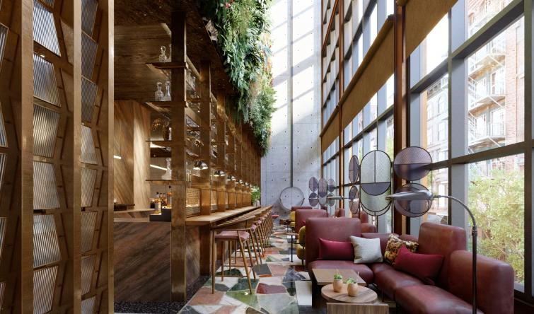 Moxy Chelsea Hotel, An Astounding Project By The Rockwell Group  Moxy Chelsea Hotel, An Astounding Project By The Rockwell Group Conservatory 1