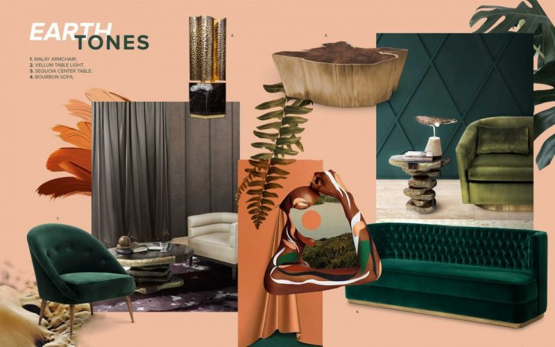 Renew Your Home Décor With The Earth Tones Trend moodboard earth tones Renew Your Home Décor With The Earth Tones Trend moodboard collection earth tones interior decor trend for 2019 14 e1553246136448