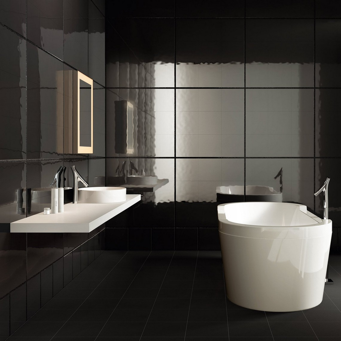 Interior Design Trends For 2019 interior design Interior Design Trends For 2019 bold black bathrooms