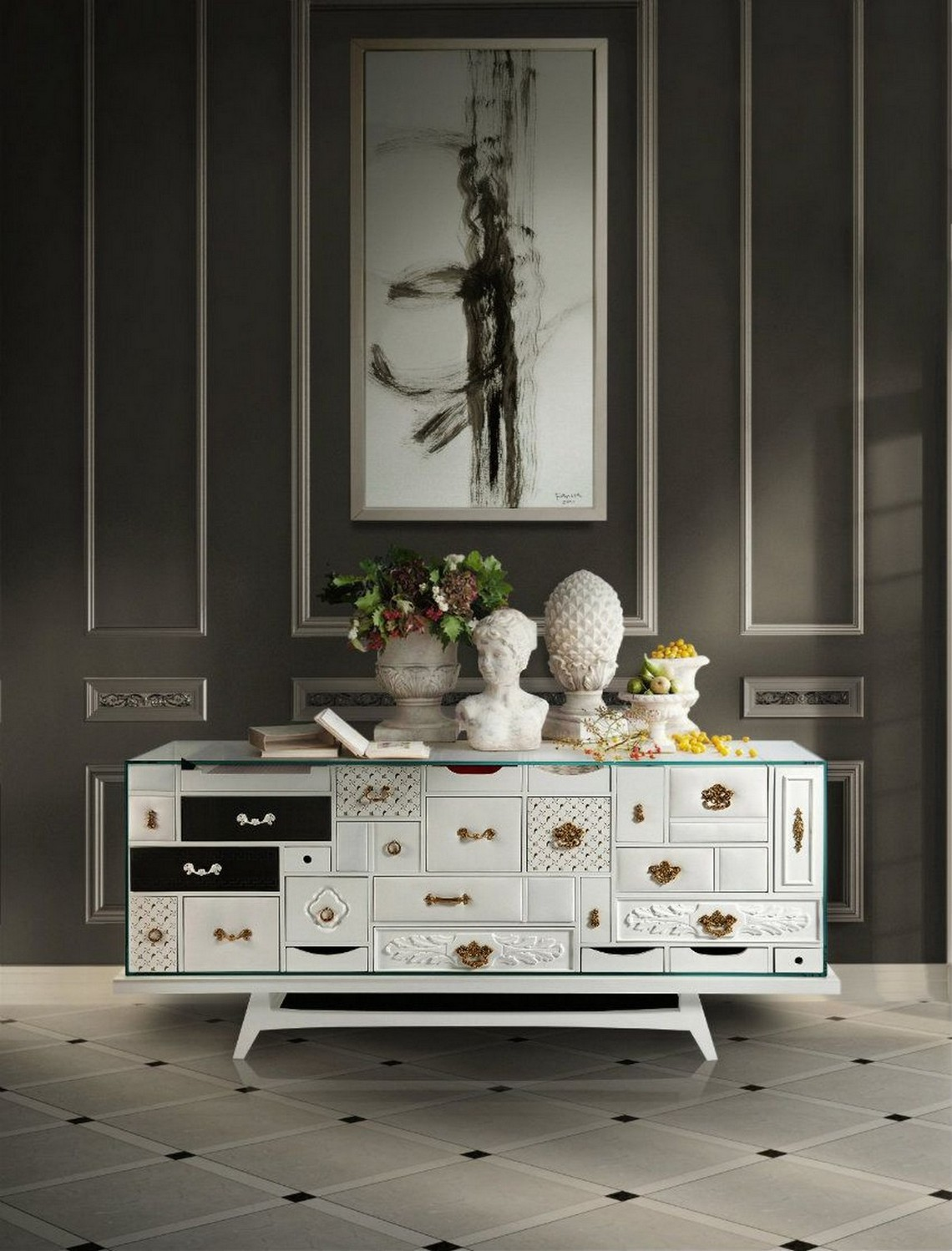Top Exclusive Sideboards exclusive sideboards Top Exclusive Sideboards mondrian white 2